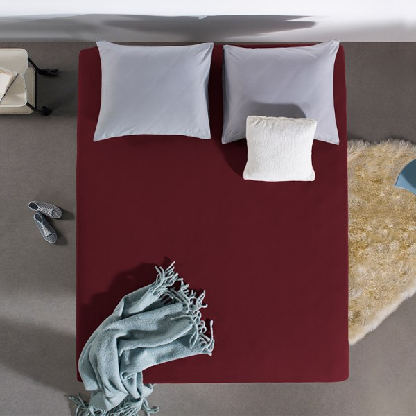 Home Care HC Dubbel Jersey Hoeslaken - Bordeaux 80/90/100 x 200 cm