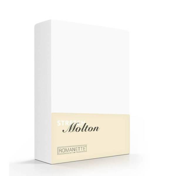 Luxe Molton Hoeslaken Stretch Romanette 80/100 x 200/220 - Ga naar Dekbed-Discounter.nl & Profiteer Nu