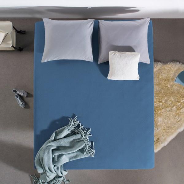 Jersey Hoeslaken - 80/90/100x200 cm - Blauw - Home Care - Ga naar Dekbed-Discounter.nl & Profiteer Nu