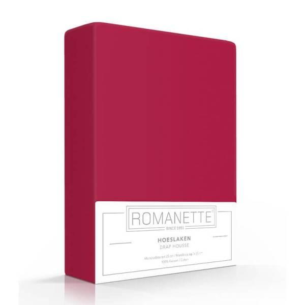 Luxe Hoeslaken Katoen - Rood Romanette 80 x 200 - Ga naar Dekbed-Discounter.nl & Profiteer Nu