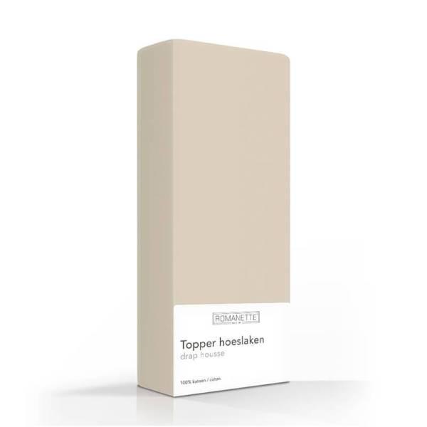 Luxe Verkoelend Katoenen Topper Hoeslaken - Camel Romanette 70 x 200 - Ga naar Dekbed-Discounter.nl & Profiteer Nu