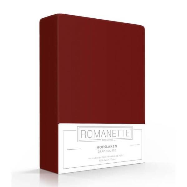Luxe Verkoelend Hoeslaken Katoen - Bordeaux Romanette 80 x 200 - Ga naar Dekbed-Discounter.nl & Profiteer Nu