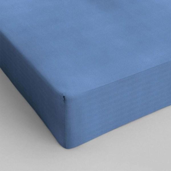 1+1 Gratis - Hoeslakens Katoen - Blauw Dekbed Discounter 70 x 200