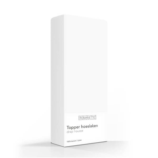 Luxe Verkoelend Katoenen Topper Hoeslaken - Wit Romanette 70 x 200 - Ga naar Dekbed-Discounter.nl & Profiteer Nu