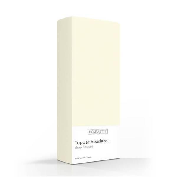 Romanette Luxe Verkoelend Katoenen Topper Hoeslaken - Ivoor 70 x 200