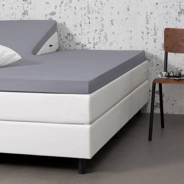 Dekbed-Discounter 2-PACK Jersey Stretch Splittopper Hoeslakens - Licht Grijs 180 x 200/210 cm