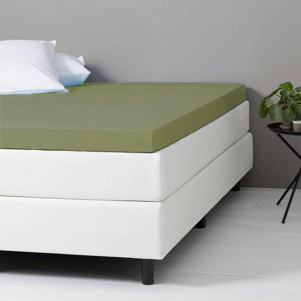 Hoeslaken Katoen - 80x200 cm - Groen - Dekbed Discounter