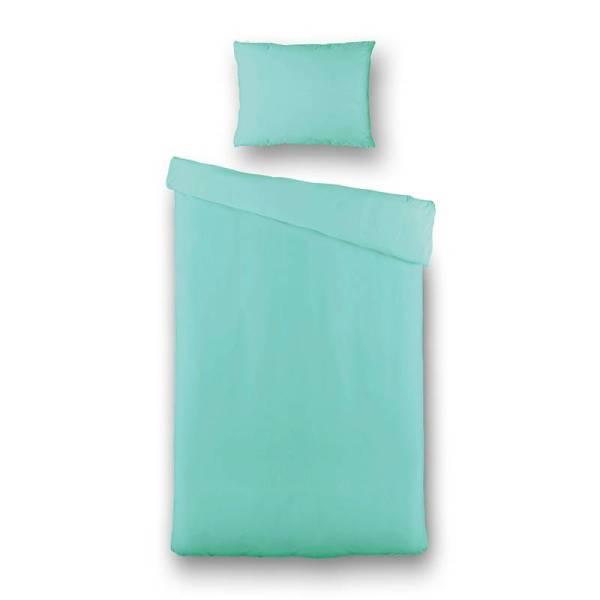 Kinderdekbedovertrek Uni Pantone Oil Blue - Kids 1-persoons (140x200/220 cm) - Katoen - Effen - Blauw