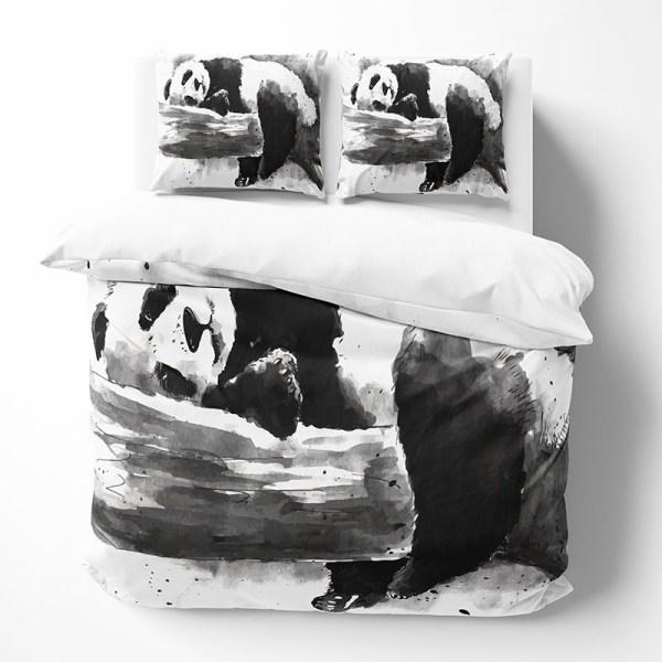 Dekbedovertrek Sleepy Panda 1-persoons (140x220 cm) - KatoenKatoen-satijnKatoen - Modern - - Ga naar Dekbed-Discounter.nl & Profiteer Nu