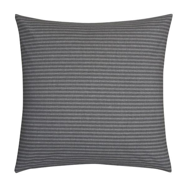 Fresh & Co Sierkussenhoes Fine Stripe Horizontal - Grijs Soort: Sierkussenhoes