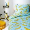 Fresh&Co Kids Dekbedovertrek Bananas 1-persoons (140 x 200 + 1 kussensloop) Dekbedovertrek