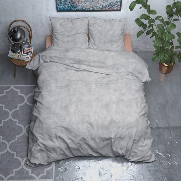 Sleeptime Elegance Two Toned - Verwarmend Flanel - Grijs Lits-jumeaux (240 x 200/220 cm + 2 kussenslopen) Dekbedovertrek