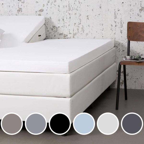 Jersey Hoeslaken - Wit 140x200/210/220 cm - Zwart Wit Blauw Taupe Grijs Creme Antraciet - Dekbed Discounter