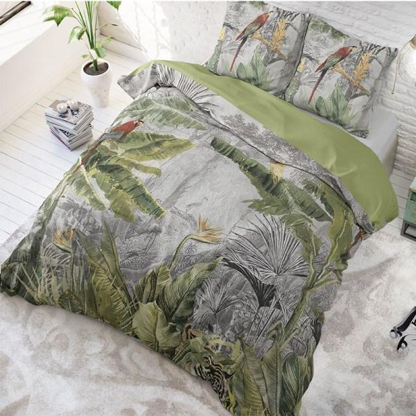 DreamHouse Bedding Jungle by Night - Grijs Lits-jumeaux (240 x 220 cm + 2 kussenslopen) Dekbedovertrek