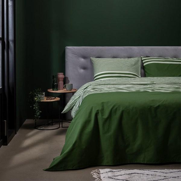Presence Green Lining 1-persoons (140 x 220 cm + 1 kussensloop) Dekbedovertrek