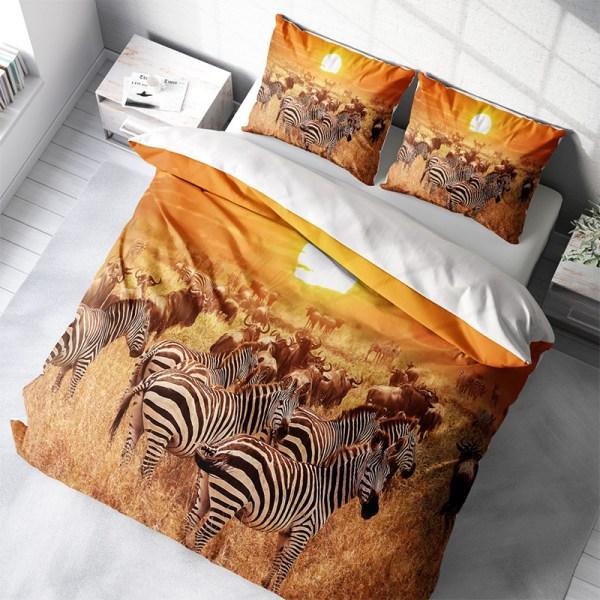 Dekbedovertrek Zebra 1-persoons (140x200/220 cm) - KatoenKatoen-satijnKatoen - Natuur - - Ga naar Dekbed-Discounter.nl & Profiteer Nu