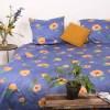 Dekbedovertrek Candelight 1-persoons (140x200/220 cm) - Katoen-satijn - Bloemen - Blauw