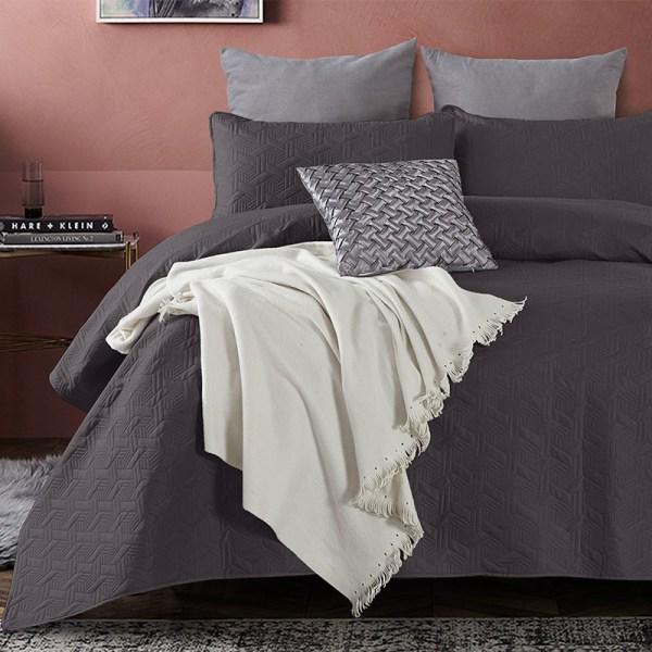 Baltimore - Antraciet DreamHouse Bedding Patroon 180 x 250 + 1 kussensloop - Ga naar Dekbed-Discounter.nl & Profiteer Nu