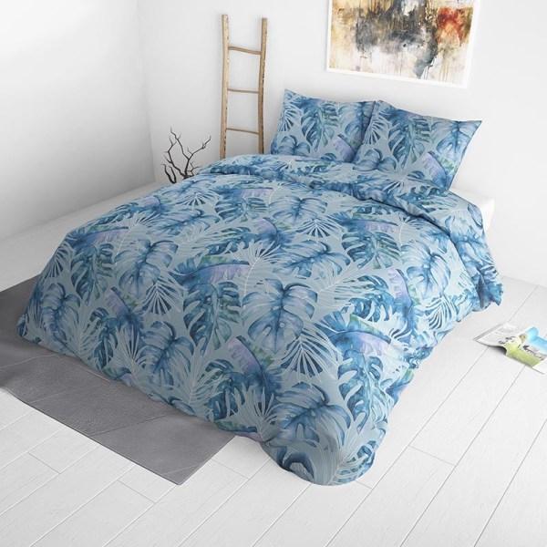 Dekbedovertrek Ocean Botanical Blue 140x220 - Katoen - Patroon - Blauw - Ga naar Dekbed-Discounter.nl & Profiteer Nu