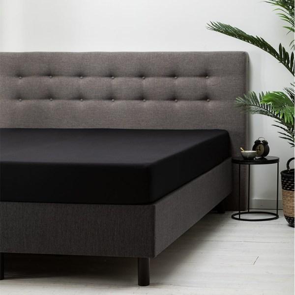 Hoeslaken Katoen - 80x200 cm - Zwart - Dekbed Discounter