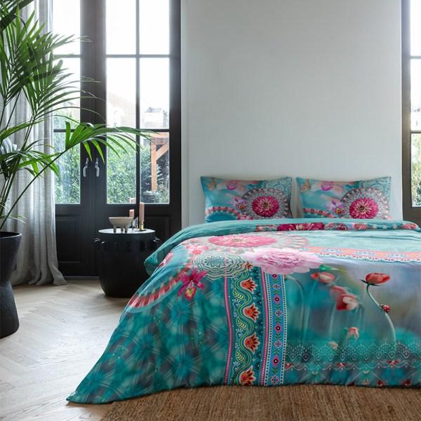 Dekbedovertrek Mandala Flowers 1-persoons (140x200/220 cm) - Katoen - Patroon - - Ga naar Dekbed-Discounter.nl & Profiteer Nu