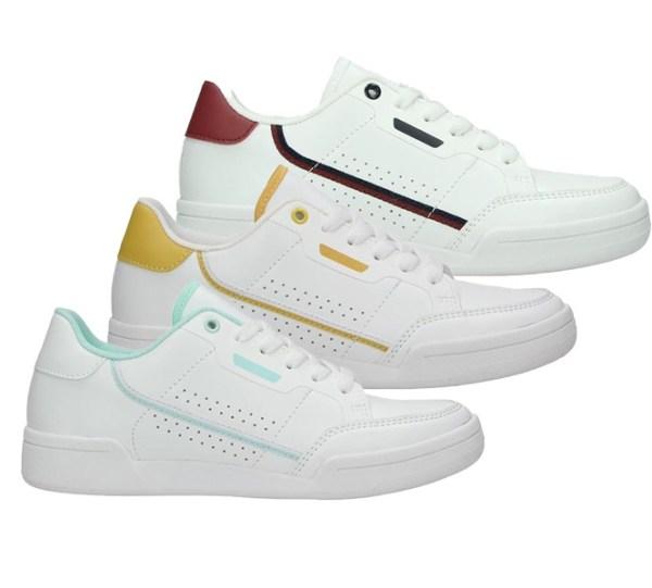 Dames Sneaker met Neon Design Claudia Ghizzani Kleur: Blauw / Rood