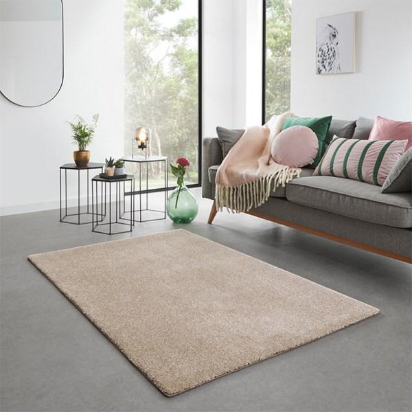 Vloerkleed San Miguel - Zand Olive Effen 57 x 150 cm - Ga naar Dekbed-Discounter.nl & Profiteer Nu