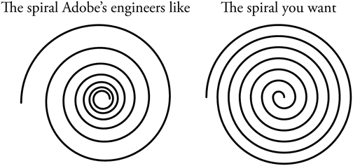 Deke's Techniques 84: Drawing a Perfect Linear Spiral in