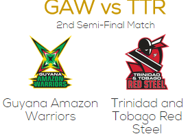 Watch CPL T20 2015 GAW VS TTR 2nd Semi Final Match Live Score Streaming Team Result Prediction