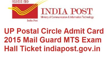 UP Post Office MTS Exam Admit Card Download Hall ticket at www.indiapost.gov.in