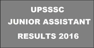 UPSSSC Junior Assistant (JA) Result 2016