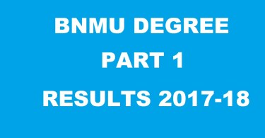 BNMU Degree Part 1 results announced, check at bnmu.ac.in