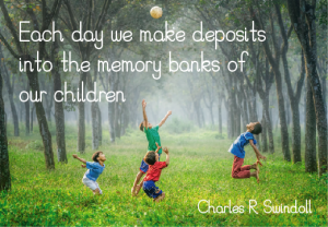 Each day we make deposits