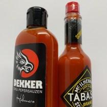 Is Dekker Hot Sauce hetzelfde als Tabasco?