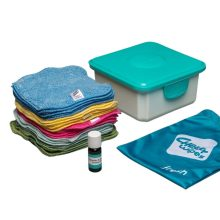 Cheeky Wipes – Kit Mini | Gekleurde Biologisch katoenen Doekjes