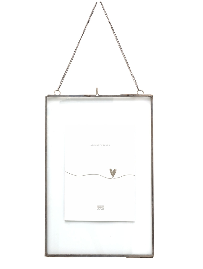 cadre photo en verre avec bord en metal