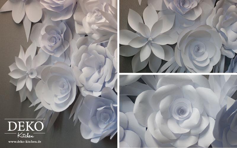 DIY Papierbltenwand als HochzeitsDeko selber machen Deko