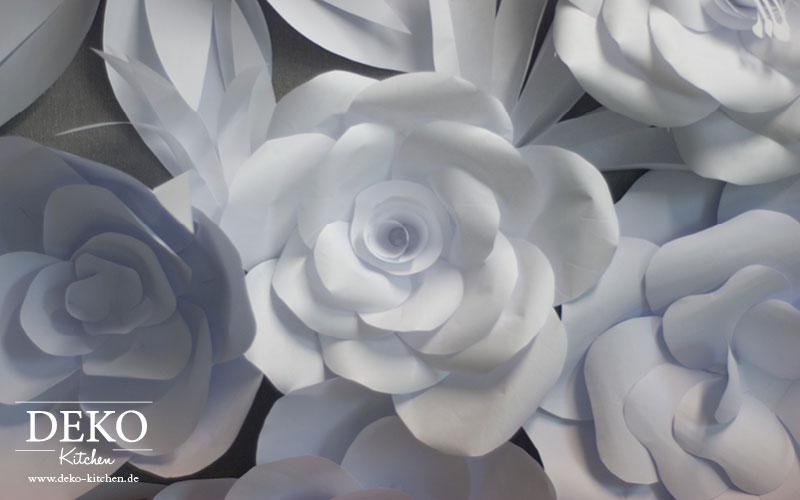 DIY Romantische PapierbltenWandDeko selber machen  DekoKitchen