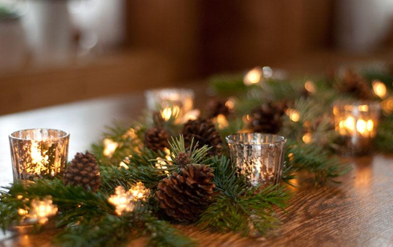 DIY Weihnachtliche Tischgirlande  DekoKitchen