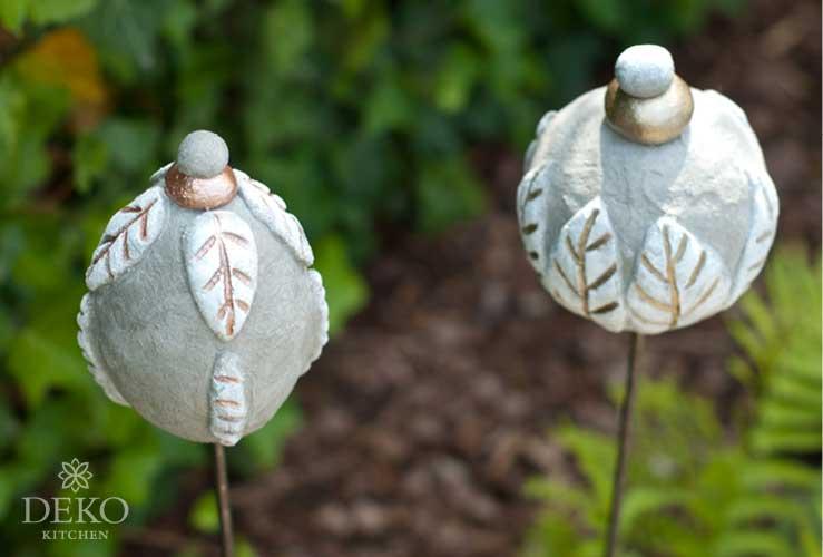 DIY hbsche Gartenstecker aus Knetbeton  DekoKitchen
