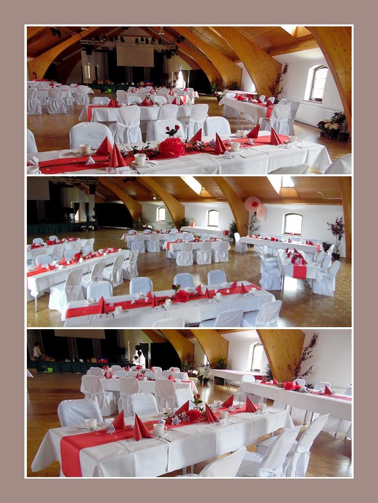 Rotweie Hochzeit von Manuela  Bjorn  ab 1