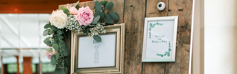 Sitzplan Tafeln und Sitzplan fr Hochzeit und Event mieten  Dekoanddesign  Mietservice