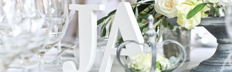 Tischnummern und Schriftzge fr Hochzeit und Event mieten  Dekoanddesign  Mietservice