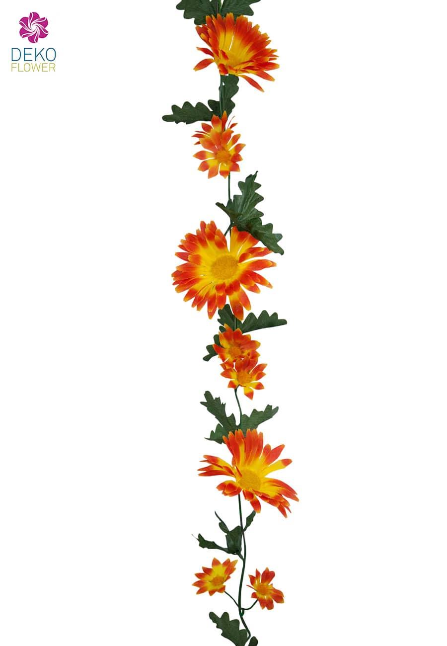 Knstliche Gerbera Blumengirlande orange 170 cm