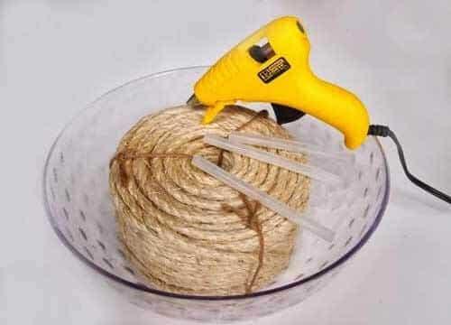 Hasır ipten sepet yapımı