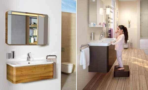 İşlevsel banyo fikirleri