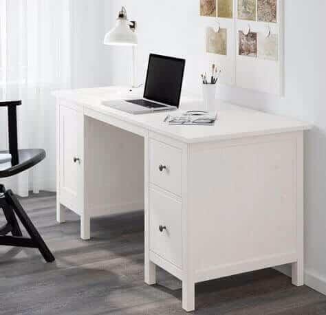 Beyaz IKEA çalışma masası fikirleri