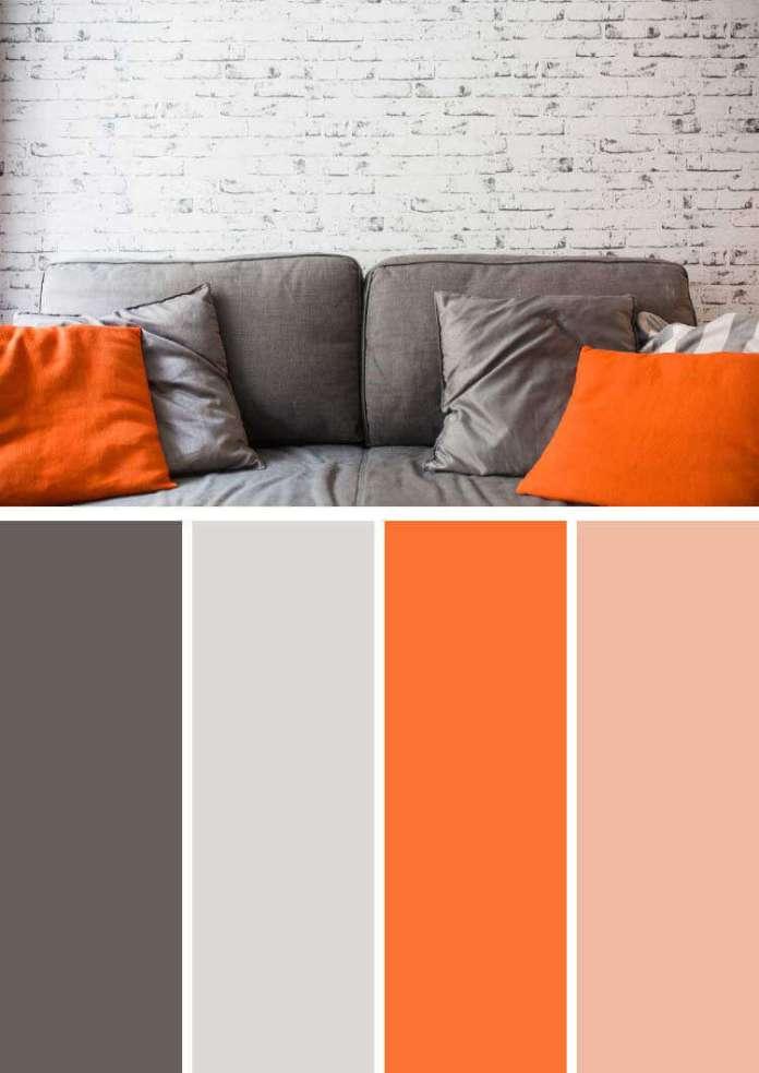 Antrasit rengi ile uyumlu renkler turuncu