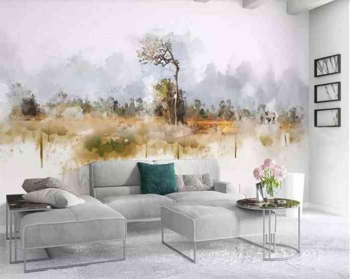 Doğal duvar kağıdı modeli
