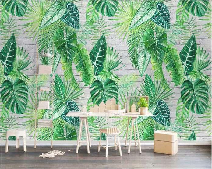 Duvar kağıdında botanik uyum